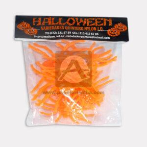 Insecto de Halloween tipo arañas Variedades Quintero naranja Grande Plástico