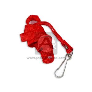 Porta Carnet tipo reata N° 000 El Papelero Rojo Mediano unisex