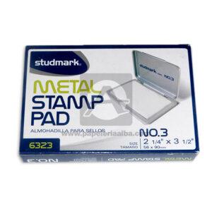 almohadilla para sello metal stamp pad N°3 Studmark Blanca Pequeña