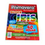 block  de papel iris excelente calidad 8 colores diferentes Primavera Carta 40 Hojas