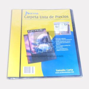 carpeta archivador Para Catalogo o Lista de precios Norma Carta 1 unidad