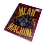 cuaderno argollado  Master Mean Machine Scribe 100 hojas cuadriculado Pasta dura Niño  Grande