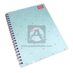 cuaderno argollado Master Perfect Day Scribe 80 hojas cuadriculado Pasta dura Niña Grande