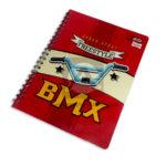 cuaderno argollado  Q´Nota BMX Urban Sport Scribe 100 hojas cuadriculado Niño  Grande