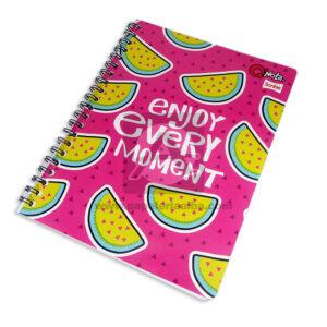 cuaderno argollado Q´Nota Enjoy Every Moment Scribe 100 hojas cuadriculado Grande Niña