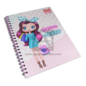 cuaderno argollado Xpression ¡Lo quiero Todo! Scribe 100 hojas cuadriculado Pasta dura Niña Grande