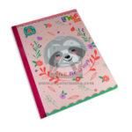 cuaderno cosido  LinKids Oso perezoso Give me a Hug Scribe Cuadros Progresivos Grande Niña  100 hojas
