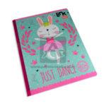 cuaderno cosido  Link Just Dance Neón Scribe cuadriculado Grande 100 hojas Niña