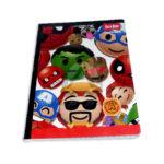 cuaderno cosido  Master Avengers Cubitos Tipo A Scribe Grande Cuadros Progresivos 100 hojas Niño