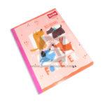 cuaderno cosido  Master Best Friends Forever Mascotas Scribe 100 hojas Grande Niña  rayado