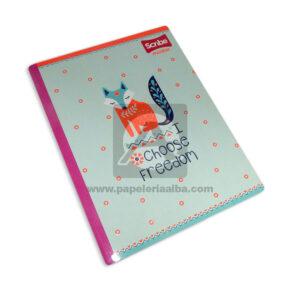 cuaderno cosido Master I Choose Freedom Scribe Grande Niña 50 hojas cuadriculado