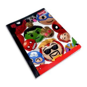 cuaderno cosido Master MH-S Personajes Marvel Scribe 100 hojas rayado Grande Niño