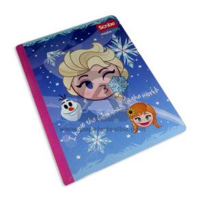 cuaderno cosido Master MH-S Personajes de Disney Frozen Scribe 50 hojas Grande doble linea Niña
