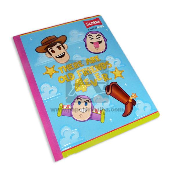 cuaderno cosido Master MH-S Toy Story 4ver Scribe 50 hojas rayado Grande Niña