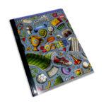 cuaderno cosido  Q´Nota Elementos variados de Fútbol Scribe 100 hojas rayado Grande Niño