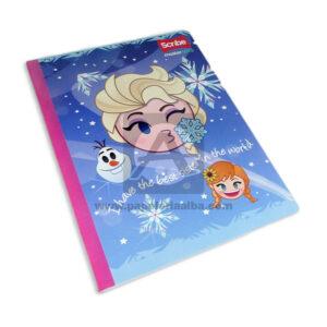 cuaderno cosido Q´Nota Motivo Frozen Scribe Grande 50 hojas Niña cuadriculado