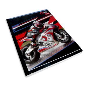 cuaderno cosido Q´Nota Motivo Moto GP Scribe cuadriculado Grande Niño 100 hojas