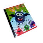 cuaderno cosido  Q´Nota Motivo de monstruos Scribe 50 hojas Grande rayado Niño
