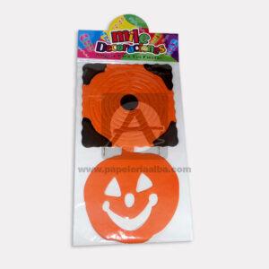 festón halloween con motivo de calabaza Mile Decoraciones naranja Negro Largo