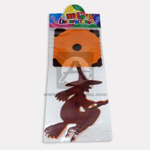 festón-halloween-de-motivo-Bruja-Mile-Decoraciones-naranja-Negro-Largo