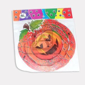 guirnalda Tridimensional motivo de Calabaza Panda Grande naranja 1 unidad
