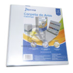pasta argolla  tipo catalogo con separadores Norma 1.5