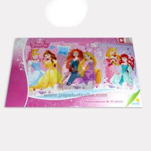 rompecabeza Didáctico Infantil Disney Princesas Ronda 3 unidades 35 Piezas Grande + 4 Años