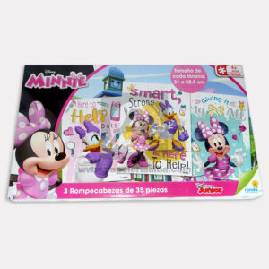 rompecabeza didáctico infantil Disney Minnie Ronda 3 unidades 35 Piezas Niña + 4 Años Grande