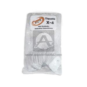 tiquete para Joyería 4B Imprentar blanco Mediano 100 Unidades