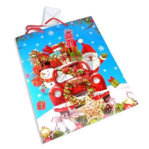 Bolsa de Regalo clásica motivo navideño N° 001 Primavera L 1 unidad unisex