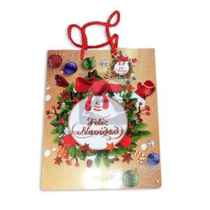 Bolsa de Regalo clásica motivo navideño N°006 Primavera M Mediana 1 unidad Niña