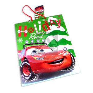 Bolsa de Regalo clásicapersonajes Cars motivo navideño N° 008 Primavera Grande L 1 unidad Niño