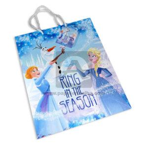 Bolsa de Regalo clásicapersonajes Frozen motivo navideño N°013 Primavera Grande L 1 unidad Niña