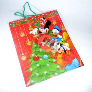Bolsa de Regalo clásicapersonajes Micky Mouse motivo navideño N° 009 Primavera Grande L 1 unidad Niño