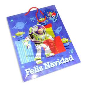 Bolsa de Regalo clásicapersonajes Toy Story motivo navideño N° 006 Primavera Grande L 1 unidad unisex