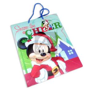 Bolsa de Regalo clásicapersonajes mickey mouse motivo navideño N° 010 Primavera Grande L 1 unidad Niño