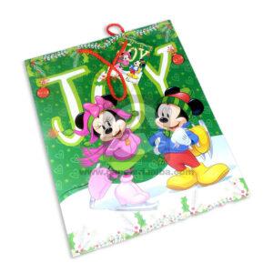 Bolsa de Regalo clásicapersonajes mickey y minnie navideño N° 011 Primavera Grande L 1 unidad Niña