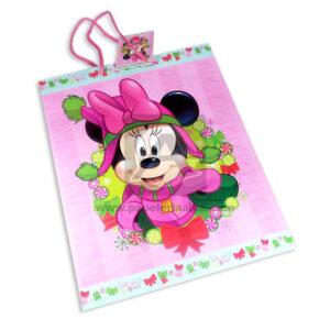 Bolsa de Regalo clásicapersonajes minnie mouse motivo navideño N°012 Primavera Grande L 1 unidad Niña
