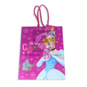 Bolsa de Regalo clásicapersonajes princesas disney motivo navideño N°002 Primavera Grande 1 unidad Niña