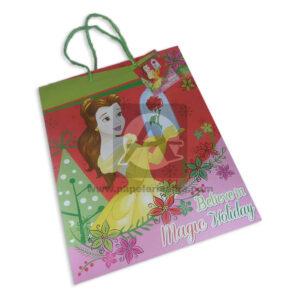 Bolsa de Regalo clásicapersonajes princesas disney motivo navideño N°014 Primavera Grande L 1 unidad Niña