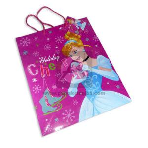 Bolsa de Regalo clásicapersonajes princesas disney motivo navideño N°015 Primavera Grande L 1 unidad Niña
