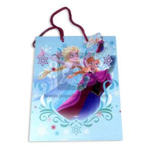 Bolsa de Regalo clásicopersonajes Frozen motivo navideño N°012 Primavera M Mediana 1 unidad Niña