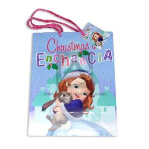 Bolsa de Regalo clásicopersonajes princesita sofia motivo navideño N°011 Primavera M Mediana 1 unidad Niña