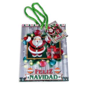 Bolsa de Regalo motivo navideño clásico N°002 Primavera Pequeña 1 unidad unisex