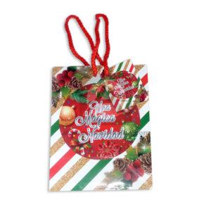 Bolsa de Regalo motivo navideño clásico N°003 Primavera Pequeña 1 unidad unisex