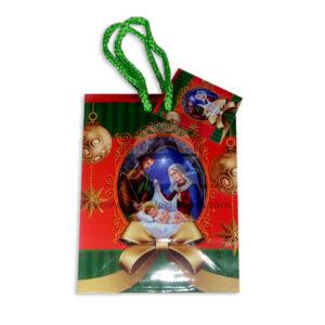 Bolsa de Regalo motivo navideño clásico N°006 Primavera Pequeña 1 unidad unisex