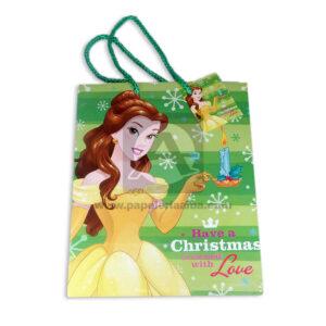 Bolsa de Regalo clásicapersonajes princesa Disney motivo navideño N°014 Primavera M Mediana 1 unidad Niña