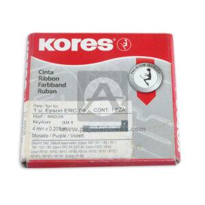 cinta para maquinas de escribir Epson ERC 09 kores 1 unidad 4mm Negro