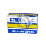 clip  N° 851 Gema Metalizado 100 Unidades  Pequeño