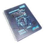 cuaderno argollado  con stickers solid colors lifestyle Primavera Pequeño 80 hojas cuadriculado masculino